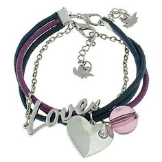 Dream Out Loud by Selena Gomez  Bracelet Love Heart Multicolored – Set of 2