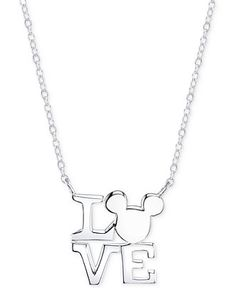 831 best cositas images on pinterest baby love bedrooms and child  disney mickey mouse love necklace in sterling silver all fine jewelry jewelry watches
