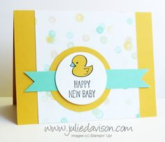 Makeover Monday AFTER Card featuring One Tag Fits All #stampinup www.juliedavison.com