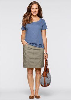 Stretchrock sand - bpc bonprix collection jetzt im Online Shop von bonprix.de ab ? 19,99 bestellen. Mit elastischem Strickbund. Taschen vorn und hinten. ...