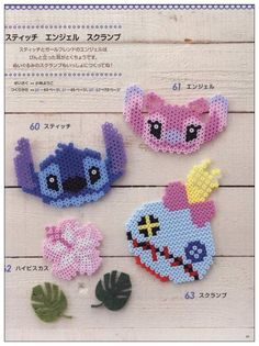 Stitch and Angel perler beads                                                                                                                                                     More