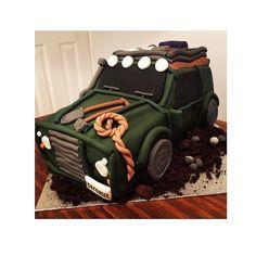Landrover cake #instabake #baking #cake #fondant #cakedecorating #edibleart #handmade #rabbit #landroverdefender #landrovercake #landrover #instacake #rope #spade #icing by hannahflour Landrover cake #instabake #baking #cake #fondant #cakedecorating #edibleart #handmade #rabbit #landroverdefender #landrovercake #landrover #instacake #rope #spade #icing New York Cake, 21 Birthday, Cake Flour, Edible Art, Land Rover Defender, Fondant, Cake Decorating, Wedding Cakes, Baking