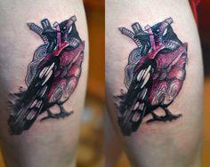 Redberry Tatto Studio Wrocław #tattoo #inked #ink #studio #wroclaw #warszawa #tatuaz #dresden #redberry #katowice #dzolama #redberrytattoostudio #amaizingtattoo #poland #berlin #sketch #delicate #color #kruk #raven #roza #roses #heart #serce