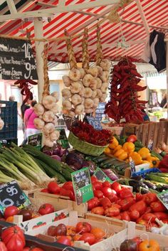Farmer's market in Provence Frances Farmer, Nice Ville, Belle France, Nice France, Farm Stand, French Food, Fruits And Vegetables, The Fresh, Farmers Market