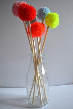 DIY - bouquet de fleurs pompons !