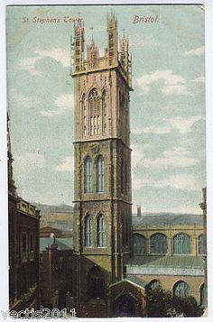#Bristol, #england vintage #postcard - st steven's church tower,  View more on the LINK: http://www.zeppy.io/product/gb/2/182030627337/