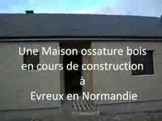 Maison en bois à Evreux en Normandie, vidéo de la construction