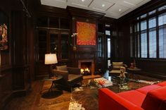 WANT a library like this one day.     What: Reading Room  Where: Thierry Mugler's Manhattan home