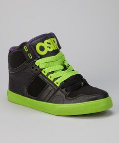 Take a look at this Black & Green NYC 83 Vulc Hi-Top Sneaker - Kids by Osiris Shoes on #zulily today!