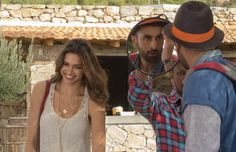 "On set! Ranbir Kapoor and Deepika Padukone on the sets of ""Tamasha"""