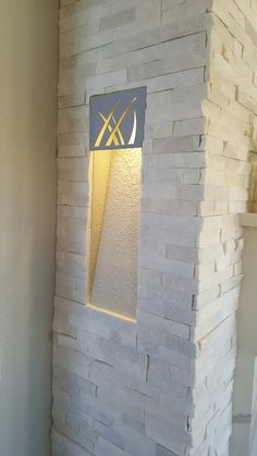 Custom created lighting on fireplace