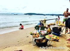 Thought we would give you an update from our holiday in Thailand Krabi.  The guy on the picture is cutting out a fresh pineapple. This is life guys.   lovely people delicious food and fruit and amazing beaches.  Wishing you all a great day from Thailand  .. .. .. .. #krabi #thailand #sun #beach #beaches #holiday #vacation #suncream #fruit #pineapple #freshfruit #sunbathıng #tan#tanning #bikini #islands #turist #healthylondon #healthylifestyle #healthy #juice #juicefanatics #smoothie…