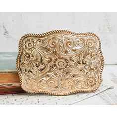 2df73fd0bb648 Vintage Cowboy BELT BUCKLE Country Western Rodeo Crumrine Big Silver ( 26)  ❤ liked on