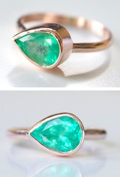 Emerald Rose Cut Ring