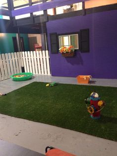 -Repinned- Doggie Play Area in Grooming Salon.