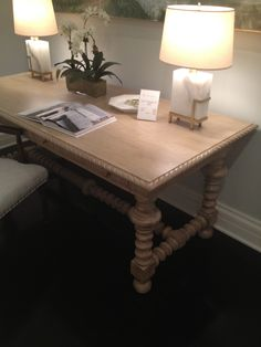 High Point Market Spring 2012-Pretty turned leg desk by Mr. and Mrs. Howard for Sherrill Furniture.