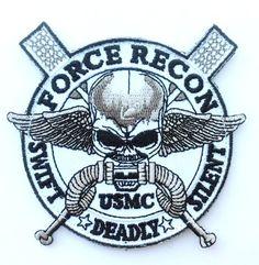 Velcro Force Recon Usmc Military Marine Swift -Deadly - Silent Skull Velcro 3.5 Inch Patch morale troops http://www.amazon.com/dp/B00K2HLQ86/ref=cm_sw_r_pi_dp_u16Eub1BSXKJJ