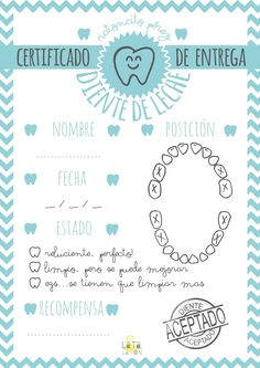 imprimible gratis ratoncito perez sobre certificado Crafts For Kids, Diy Crafts, Baby Scrapbook, Tooth Fairy, Dental Health, Pediatrics, Free Printables, Baby Kids, Lettering