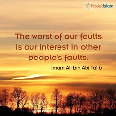 Why be interested in the faults of others? It does nothing but bring out the worst of your faults. Imam Ali Quotes, Sufi Quotes, Wise Quotes, Quotable Quotes, Inspirational Quotes, Qoutes, Spiritual Beliefs, Spiritual Wisdom, Religious Quotes