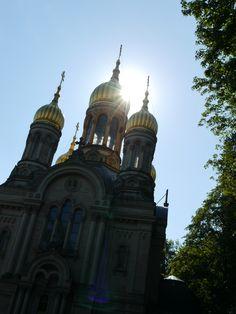 Wiesbaden - Russisch- Orthodoxe Kirche auf dem Neroberg