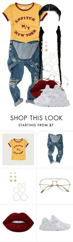 """""""7 11 16"""" by miizz-starburst ❤ liked on Polyvore featuring Abercrombie & Fitch, Forever 21, Lime Crime and NIKE"""