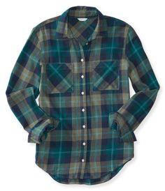 e7542630 Girls Outfit Guide | Aéropostale Blue Button Up Shirt, Blue Long Sleeve  Shirt, Button