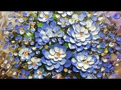 Paint Flowers with Acrylic Paint and a Palette Knife - YouTube