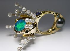 kenetic jewelry   kinetic objects: claudio pino's rings   Daily Art Muse
