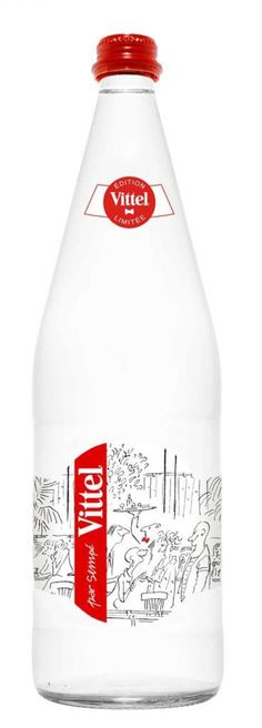Vittel Limited Edition Water. Glass Bottle