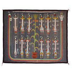 Sandpainting - Beauty Way Navajo Weaving : Historic : GHT 2217