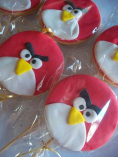Galletas decoradas ANGRY BIRDS