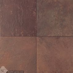 """Continental Slate 12"""" x 12"""" - Indian Red By SouthCypress.com"""