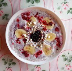 Bo talerz musi być kolorowy!: 88. Bananowo jagodowe smoothie z otrębami
