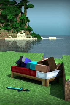 Ahh what's better than relaxing in the wonderful world of minecraft....until zombies and skeletons start to hunt u!