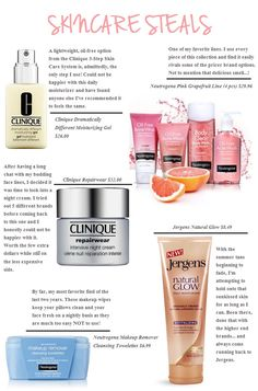 Skincare Steals // www.late-afternoons.com