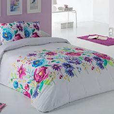 Funda Nórdica Edén Es-Tela Floral Bedroom Decor, Bedroom Themes, One Bedroom, Blue Comforter, Pink Bedding, Bedding Sets, Modern Duvet Covers, Bed Covers, Designer Bed Sheets