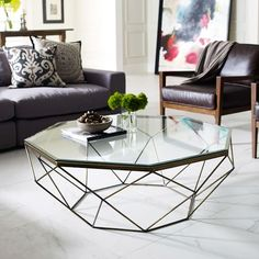 Graphic Marble Inlay Round Coffee Table – White   west elm