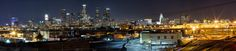 https://flic.kr/p/qDRJnz   Downtown Los Angeles Panoramic   Taken off 6th street bridge in downtown Los Angeles. 3 photos shot at 50mm stitched in Photoshop.