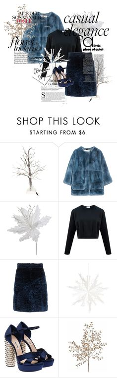 """""""BlueFur♥"""" by paulina-213 ❤ liked on Polyvore featuring Marni, MSGM, Miu Miu, women's clothing, women, female, woman, misses and juniors"""