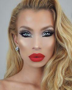 Stunning Eyes, Beautiful Lips, Gorgeous Makeup, Love Makeup, Makeup Looks, Makeup Stuff, Glam Makeup Look, Sexy Makeup, Beauty Makeup