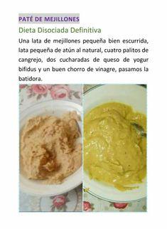 Dieta en con disociada pollo pate tostada de
