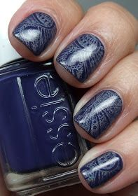 Essie No More Film with holo stamping