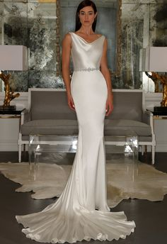 Silk Cowel Neck Wedding Dress | Romona Kaveza Collection Fall 2015 | blog.theknot.com