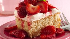Try a no-fuss way to make a classic strawberry dessert that serves a crowd of 15.