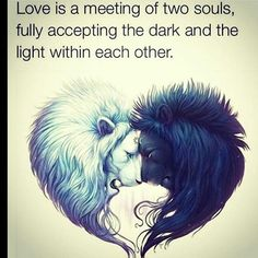 Love is meeting of two souls