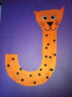 Miss Maren's Monkeys Preschool: Jaguar Template - letters, kindergarten, preschool, alphabet craft, j jaguar craft, alphabet animals, j is for jaguar
