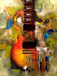Items similar to Made to Order - Original Painting - Modern Abstract Art by SLAZO - on Etsy Guitar Painting, Music Painting, Music Artwork, Guitar Art, Painting Art, Original Art, Original Paintings, Jazz Art, Art Techniques