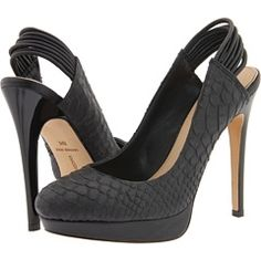 Mark & James by Badgley Mischka Marcy (Black Leather) - Platforms - StyleSays