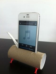 IPhone dock made with TP roll