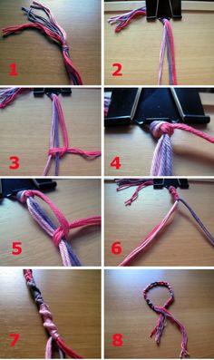 3 pulseras de hilo super fáciles de hacer
